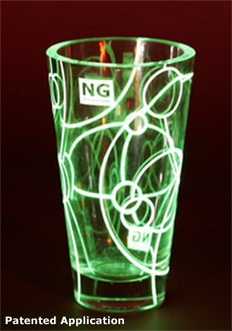 luminescent glass, patented by Next Generation B.V.